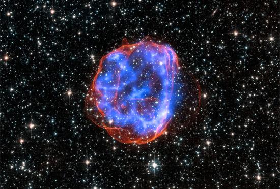 美宇航局发布巨型星体爆炸遗留残骸扩散照