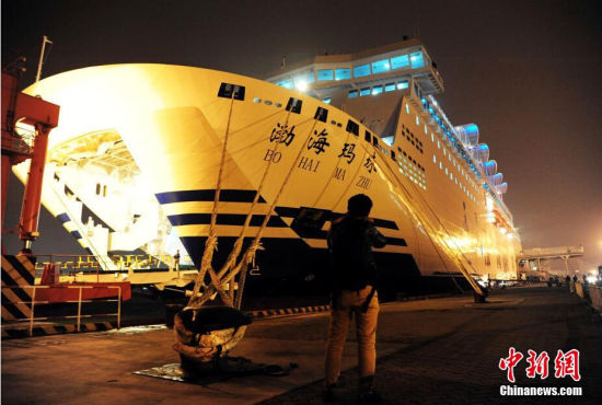 豪华客滚船渤海玛珠轮投入渤海湾运输