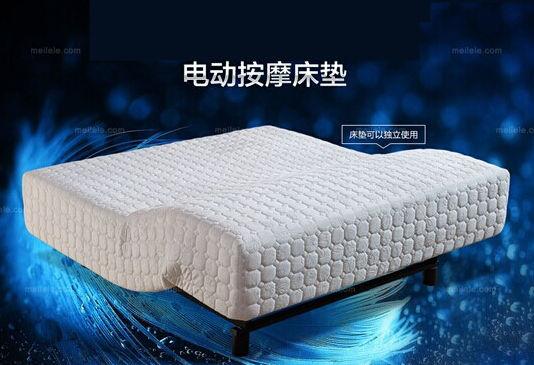 美乐乐此款编号为EMERS-YN-689-15CD智能床垫的智能化表现在床垫高度和角度可随意百变,采用了德国OKIN电机,由其构成的智能化控制系统,在调节过程中,无噪音、无震动,保证睡眠质量。智能床垫匹配了智能调控器,无论是躺在床上看书,还是看电视,让消费者可以轻松找到非常契合身体的角度。