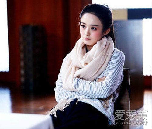 赵丽颖在这部剧中比较喜欢清新的森系搭配