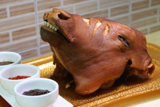 南瓜雕刻牛头图