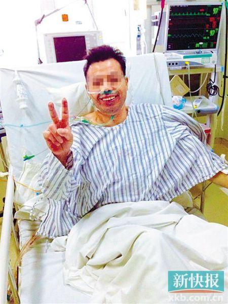 几经波折,肺源送达,患者移植成功重新呼吸。