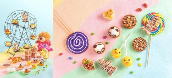 """有熊猫造型的法芙娜巧克力蛋糕,""""勤劳的小蜜蜂""""蜂蜜味纸杯蛋糕,百香果"""
