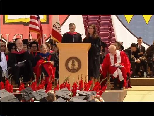盖茨呼吁斯坦福毕业生不要单纯看重营利(视频)