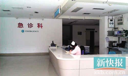 偌大一家医院,前来就医的人不多。记者郑雁虹/摄