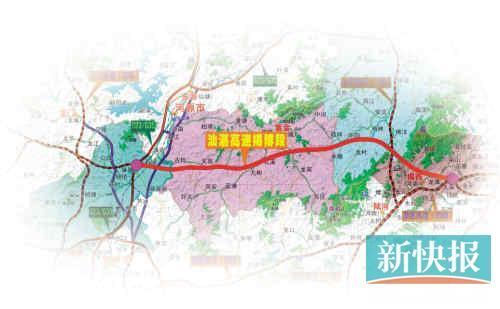汕湛高速揭博段途经地点。