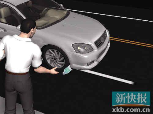 歹徒制造异响将车逼停。