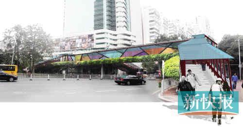 BRT沿线天桥雨篷效果图