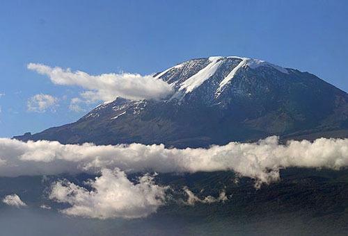 非洲的雪山乞力马扎罗山
