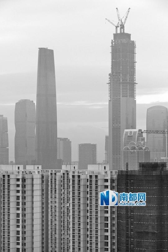 广州东塔主体结构将会实现封顶(511米)