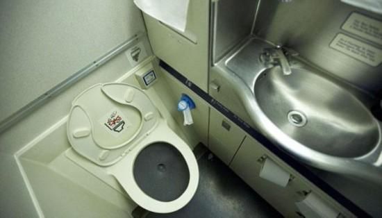 如果您坐在飞机马桶上冲水