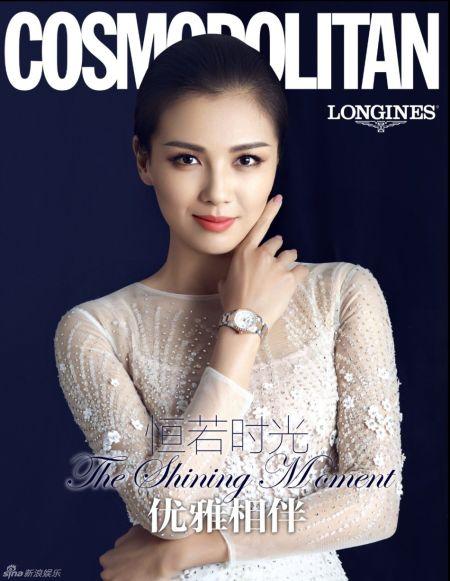 刘涛典雅时尚大片白纱裙从容大气