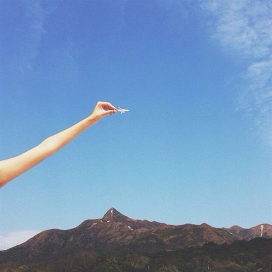 创意摄影:指尖上的飞机