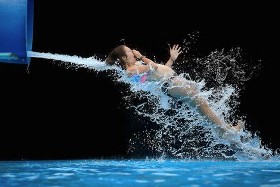 高速摄影:让人忍俊不禁的落水瞬间