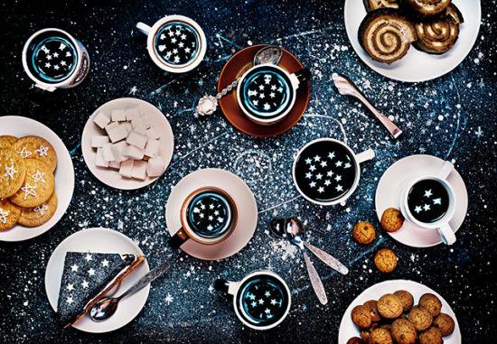 美食创意摄影:餐桌带你遨游太空