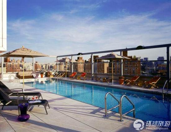 巴黎半岛酒店游泳池照片
