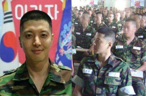 韩国男星服役军营生活照——李东健
