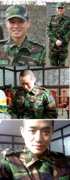 韩国男星服役军营生活照——千正明