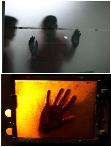 《追凶》剧照(上)与《电锯惊魂》对比剧照