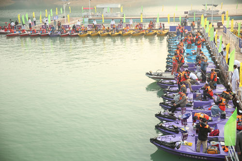 2013中国户外猎鲈大奖赛(COB)暨FLW中国精英赛首站赛事现场