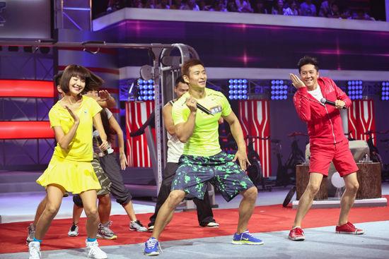 主持人吴瑕,蔡国庆和选手共舞图片