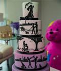 彩虹般的婚礼蛋糕